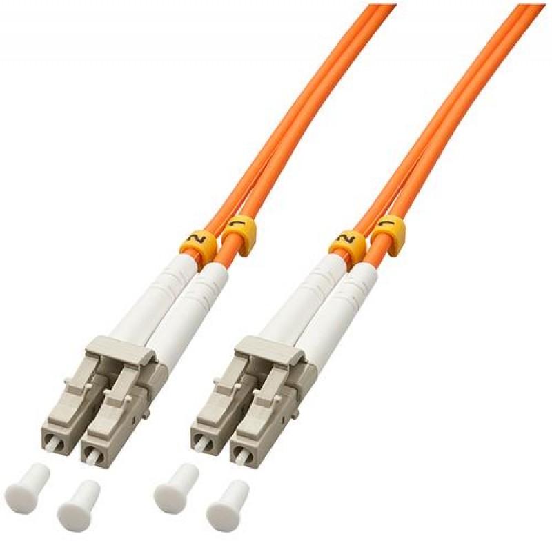 Lindy 15m OM2 LC Duplex fiber optic cable Orange