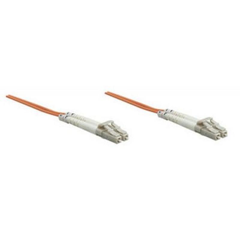 Intellinet 1.0m LC M/M fiber optic cable 1 m Orange