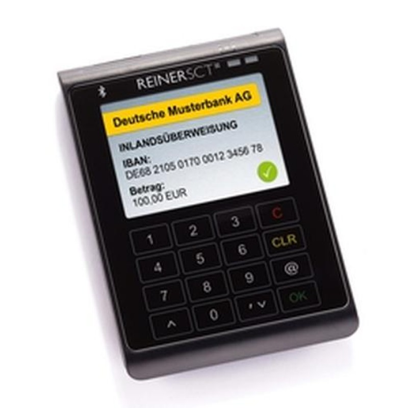 Reiner SCT cyberJack wave smart card reader Anthracite,Black Bluetooth
