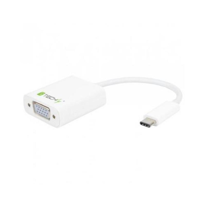 Techly Converter Cable Adapter USB 3.1 Type CM to VGA F IADAP USB31-VGA White