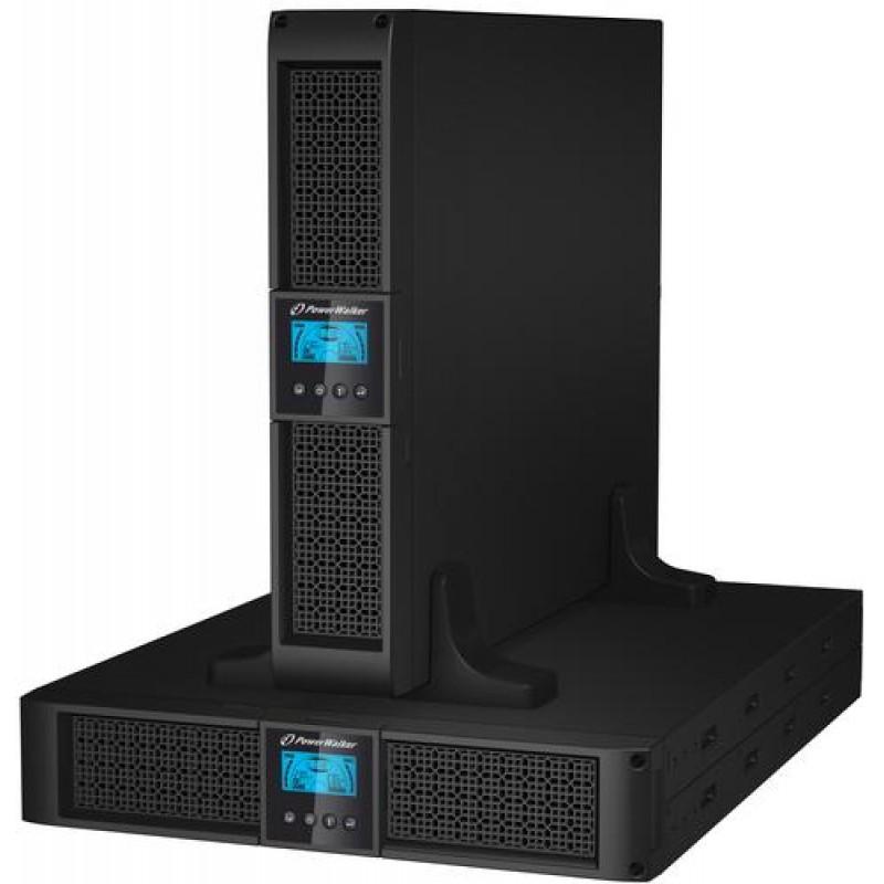 PowerWalker VFI 1500RT LCD uninterruptible power supply (UPS) 1500 VA 8 AC outlet(s) Black