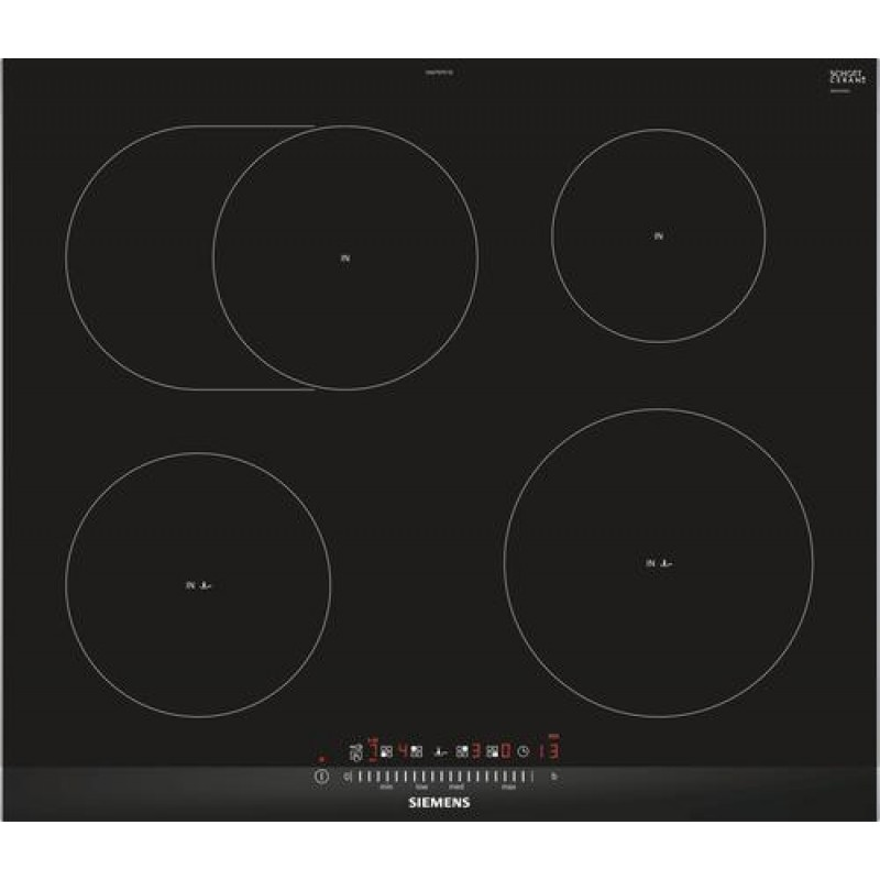 Siemens EH675FFC1E hob Built-in Zone induction hob Black,Stainless steel