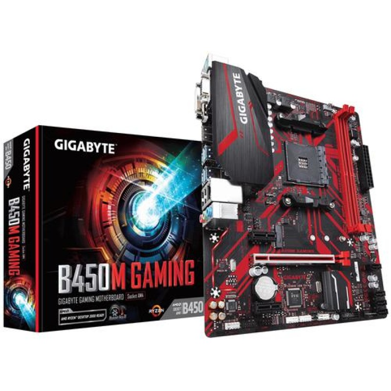 Gigabyte B450M GAMING motherboard Socket AM4 AMD B450 Micro ATX