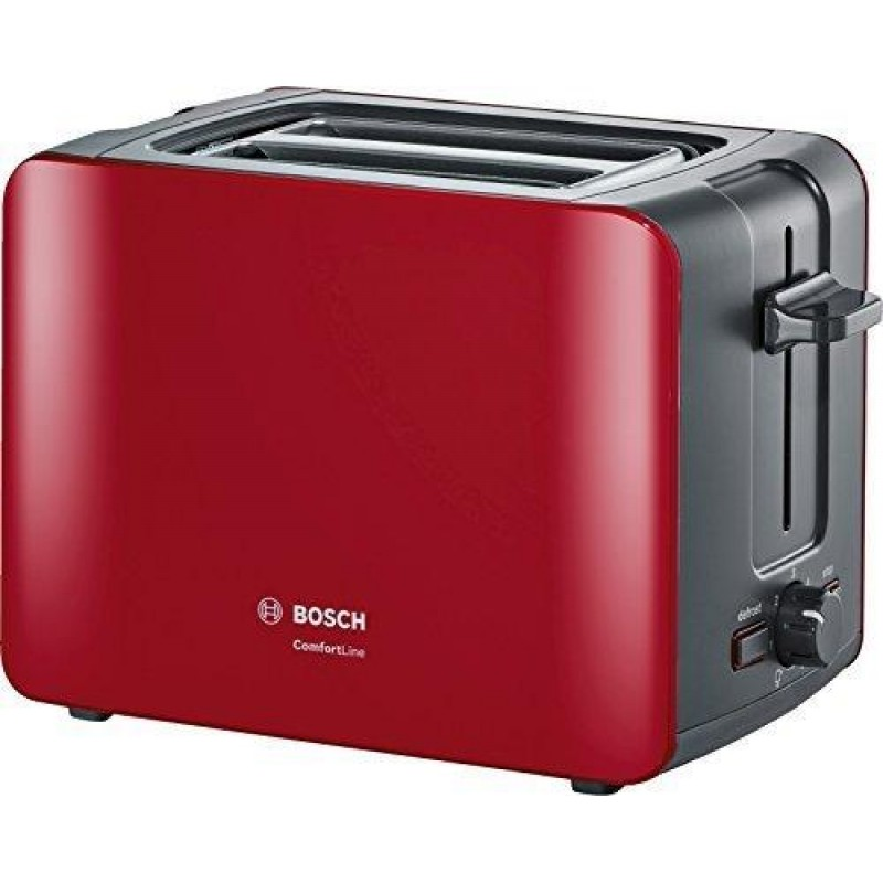Bosch TAT6A114 toaster Anthracite,Red 1090 W