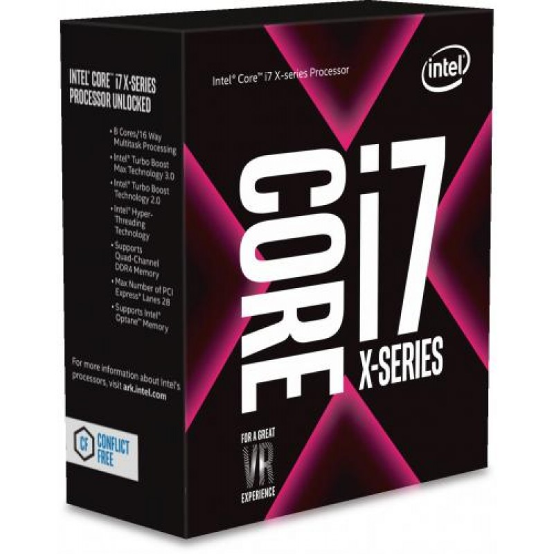 Intel Core i7-7820X processor 3.6 GHz Box 11 MB L3