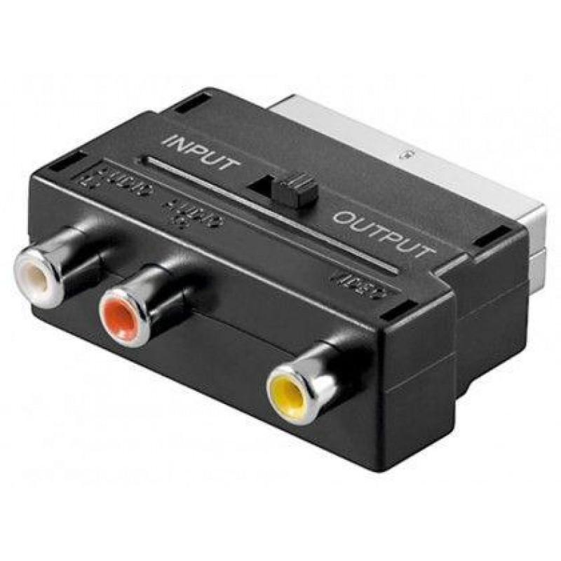 Goobay AVK 195 SCART 3x RCA Black