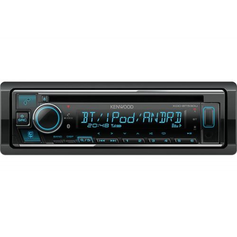 Kenwood KDC-BT530U car media receiver Black 88 W Bluetooth