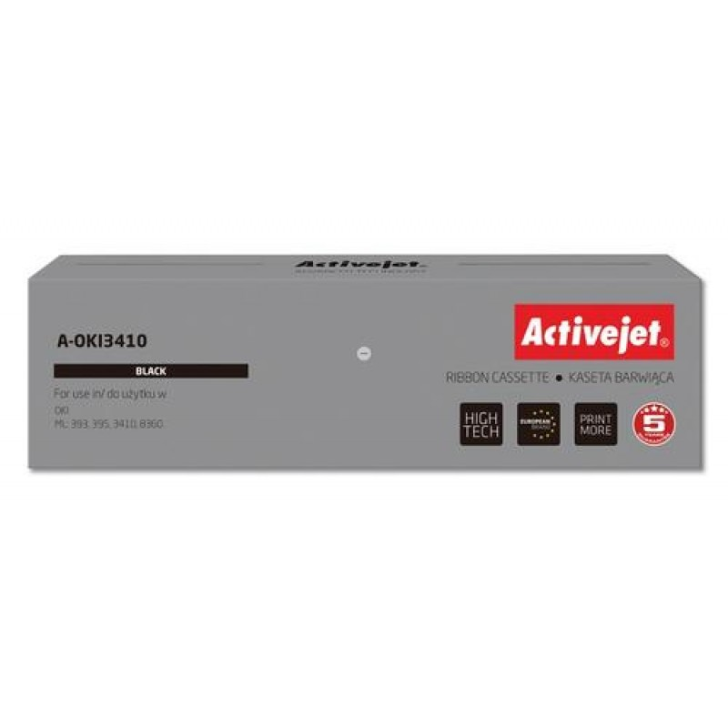 Activejet A-OKI3410 Printer ribbons replacement OKI 9002308 Black