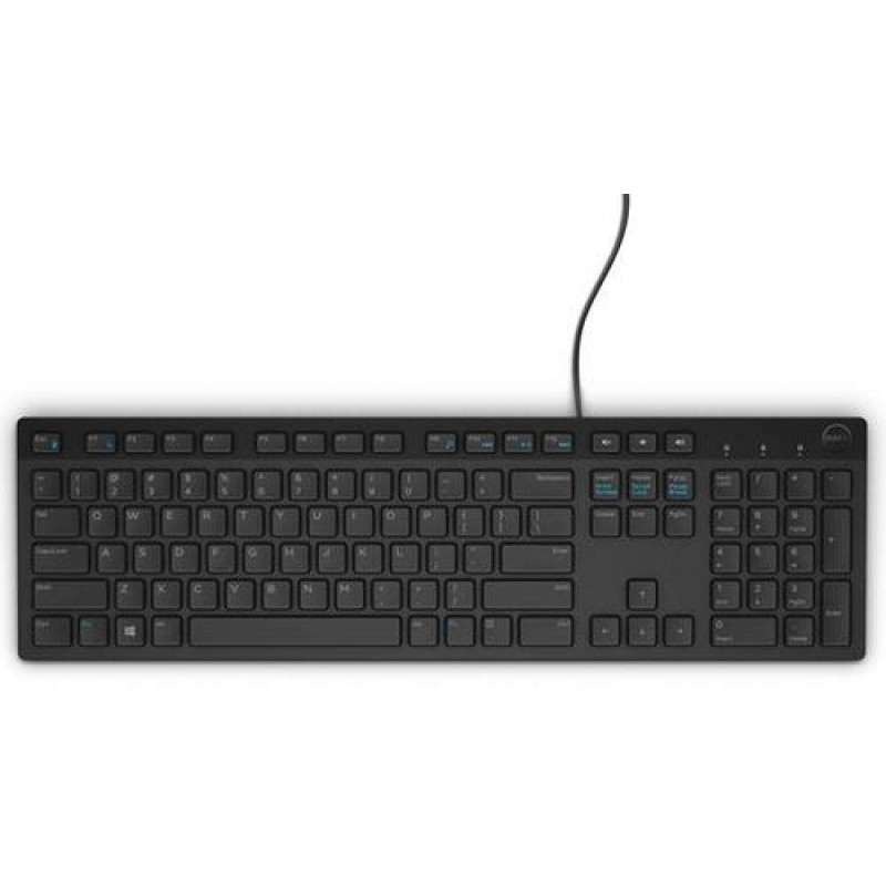 DELL KB216 keyboard USB QWERTY US International Black