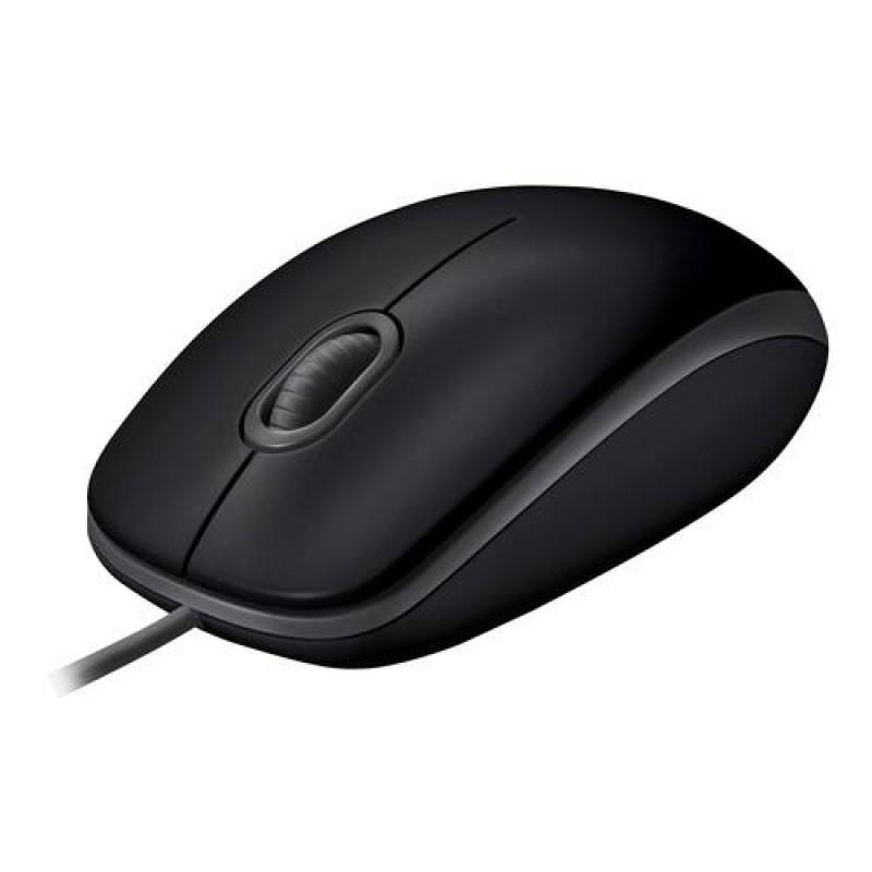 Logitech B110 mice USB Optical 1000 DPI Ambidextrous Black