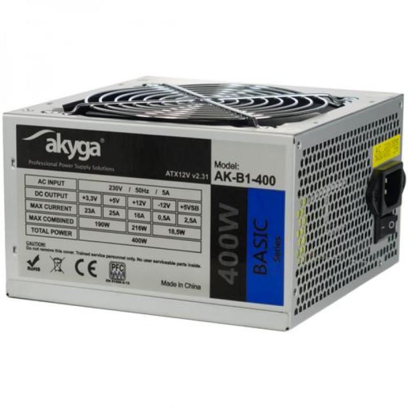 Akyga AK-B1-400 power supply unit 400 W ATX Green