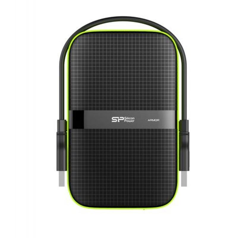 Silicon Power Armor A60 external hard drive 4000 GB Black,Green