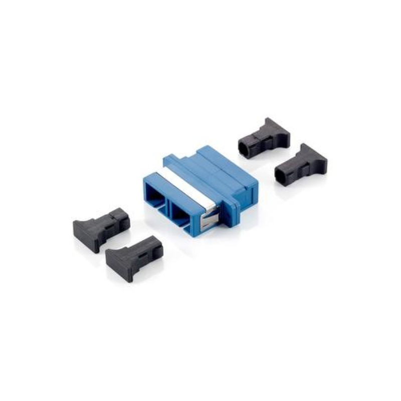 Equip SC Fiber Optic Coupler, Single-mode Duplex Blue