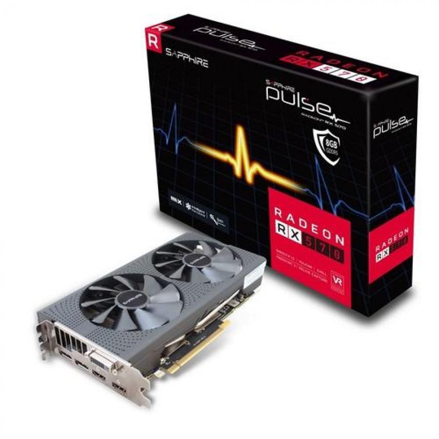 Sapphire 11266-66-20G graphics card Radeon RX 570 8 GB GDDR5 Black