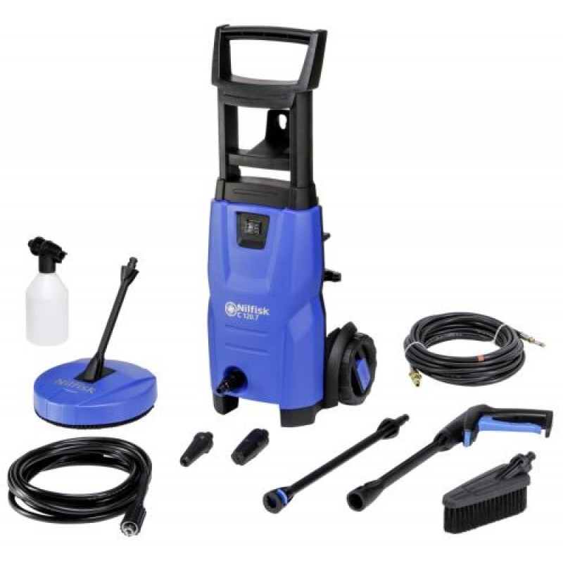 Nilfisk C 120.7-6 PCAD EU pressure washer Upright Electric Black,Blue 440 l/h 1400 W