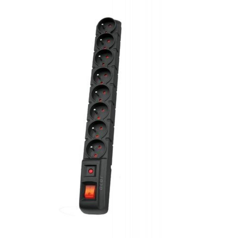 HSK DATA S8 surge protector 8 AC outlet(s) 230 V Black