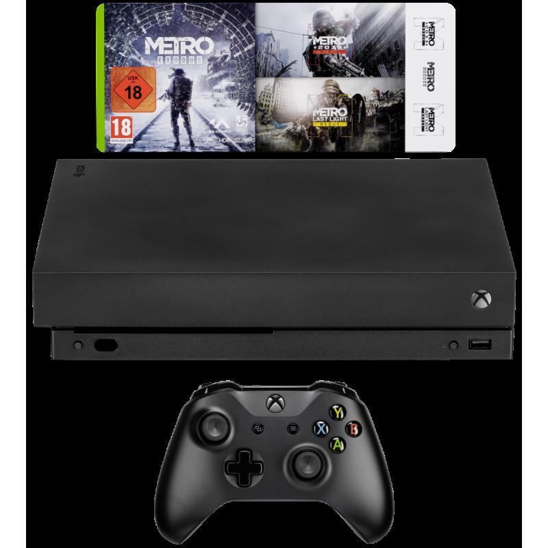 Microsoft Xbox One X + Metro Exodus Black 1000 GB Wi-Fi