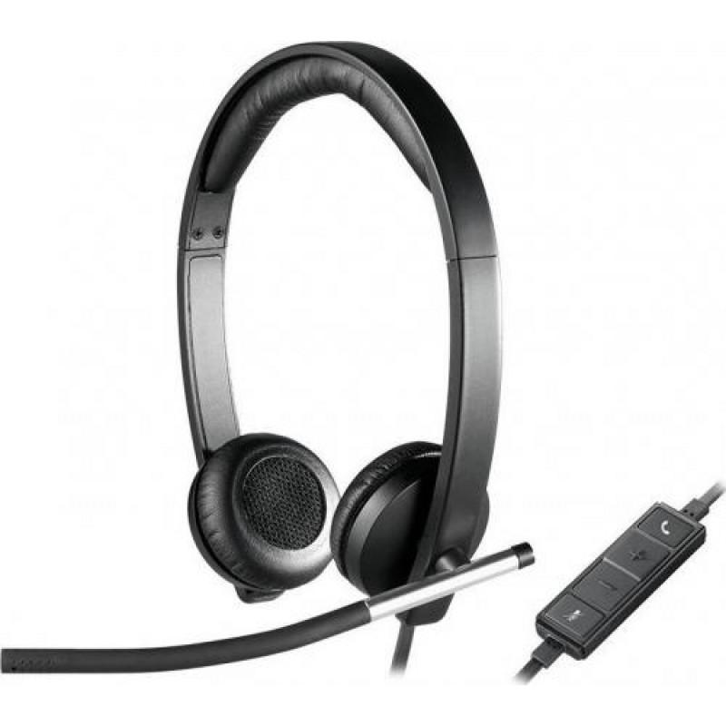 Logitech H650E Binaural Head-band Black,Silver