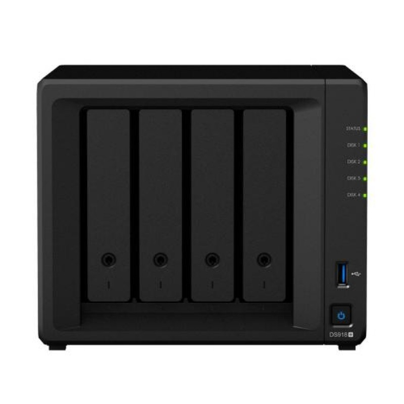 Synology DiskStation DS918+ storage server Ethernet LAN Desktop Black NAS