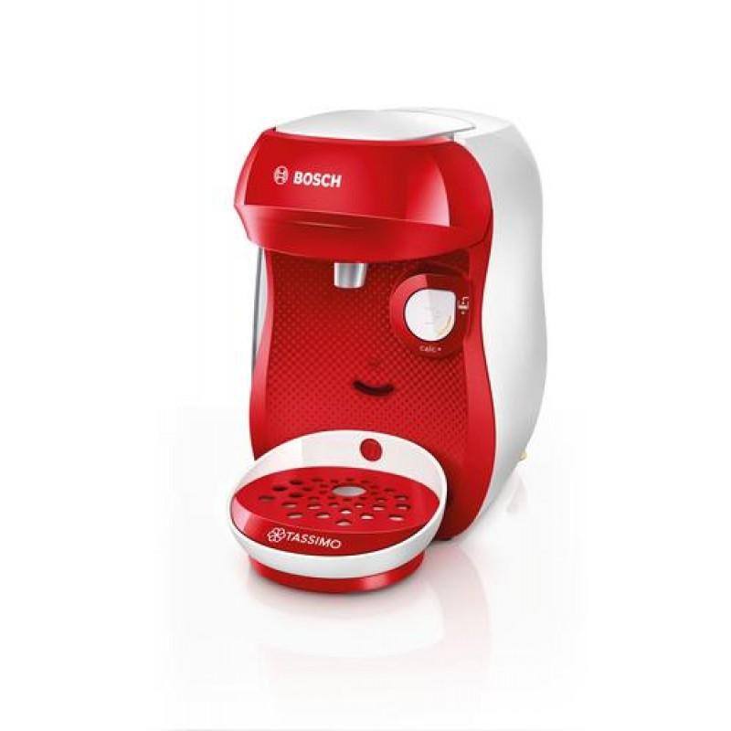 Bosch TAS1006 coffee maker Freestanding Pod coffee machine Red,White 0.7 L Fully-auto