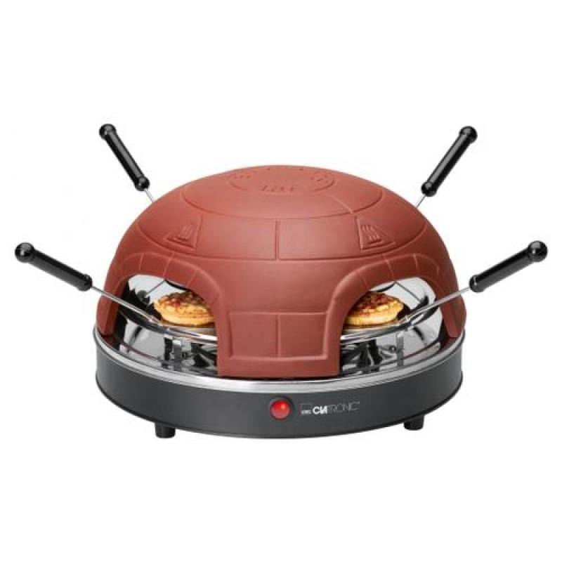 Clatronic PO 3681 pizza maker/oven 4 pizza(s) Black,Brown 900 W