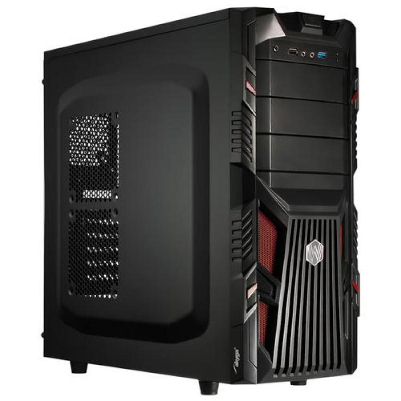 Akyga AKY007BR computer case Midi ATX Tower Black,Red