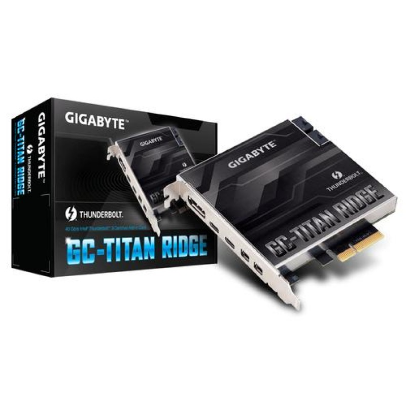 Gigabyte GC-TITAN RIDGE interface cards/adapter Internal Mini DisplayPort,DisplayPort,Thunderbolt 3