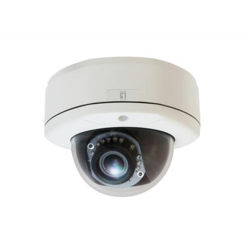 LevelOne Fixed Dome Network Camera, 3-Megapixel, Outdoor, PoE 802.3af, Day & Night, IR LEDs, WDR Black,White