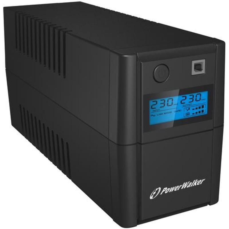PowerWalker VI 850 SHL FR uninterruptible power supply (UPS) Line-Interactive 850 VA 480 W 2 AC outlet(s) Black