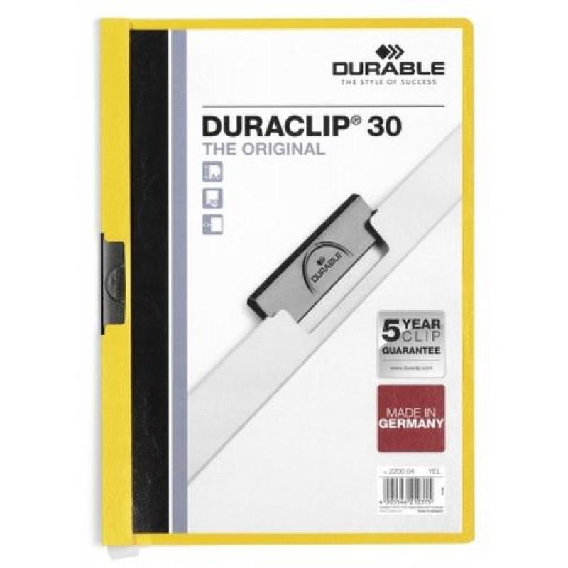 Durable Duraclip 30 report cover Transparent,Yellow PVC
