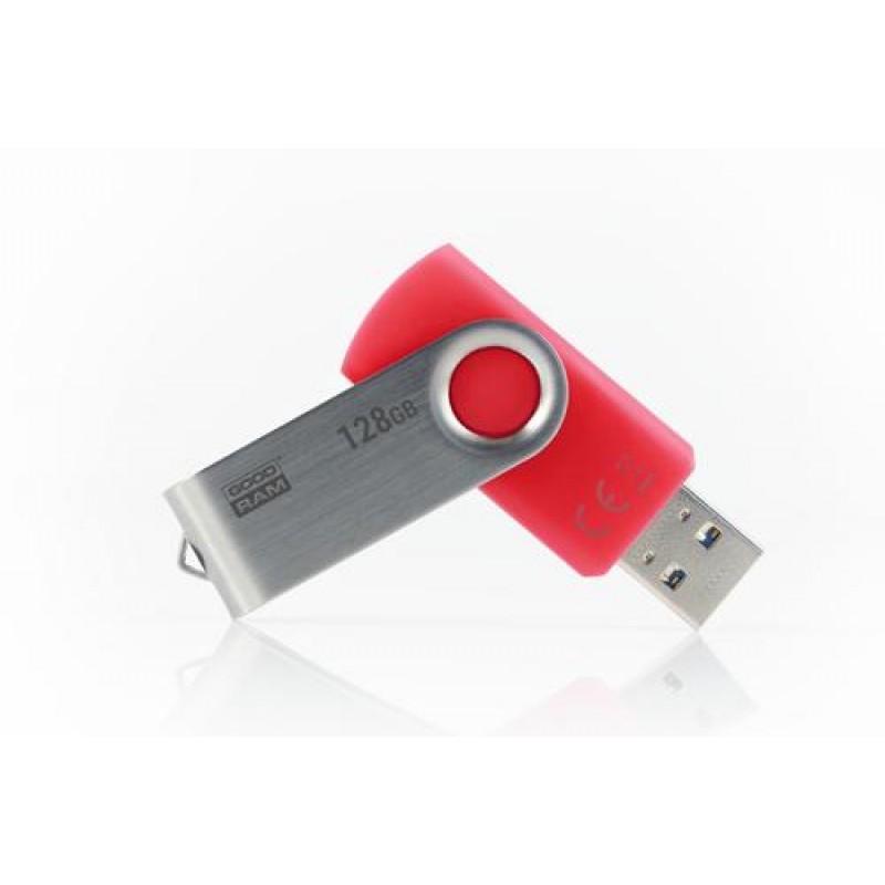 Goodram UTS3-1280R0R11 USB flash drive 128 GB USB Type-A 3.0 (3.1 Gen 1) Red,Silver