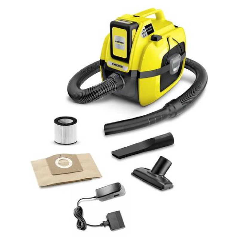 Kärcher 1.198-301.0 vacuum 230 W Cylinder vacuum Dry Dust bag 7 L Black,Yellow