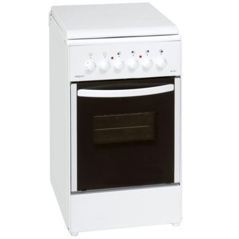 Exquisit EH10.3F cooker Freestanding cooker White Ceramic A
