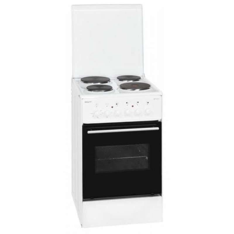 Exquisit EH11.3-4 Freestanding cooker White Sealed plate A