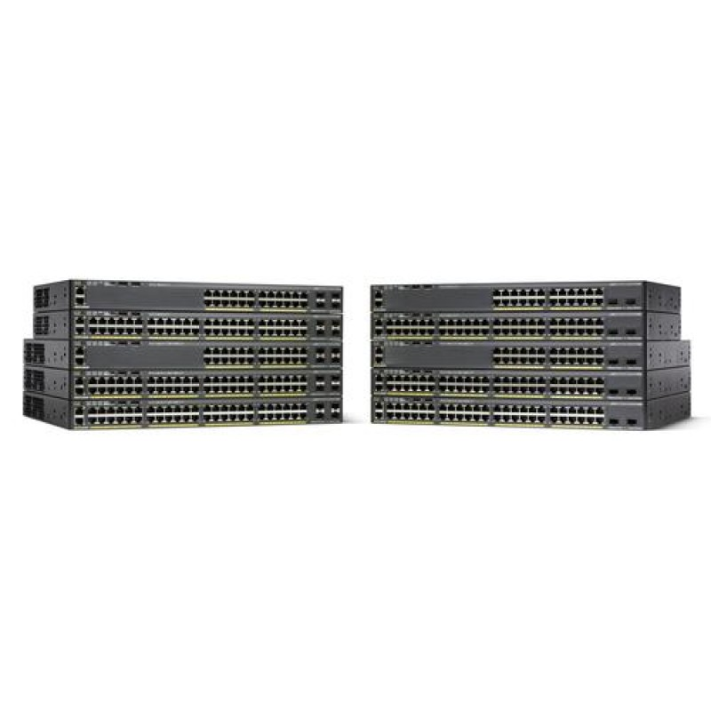 Cisco Catalyst WS-C2960X-48TS-LL network switch Managed L2/L3 Gigabit Ethernet (10/100/1000) Black
