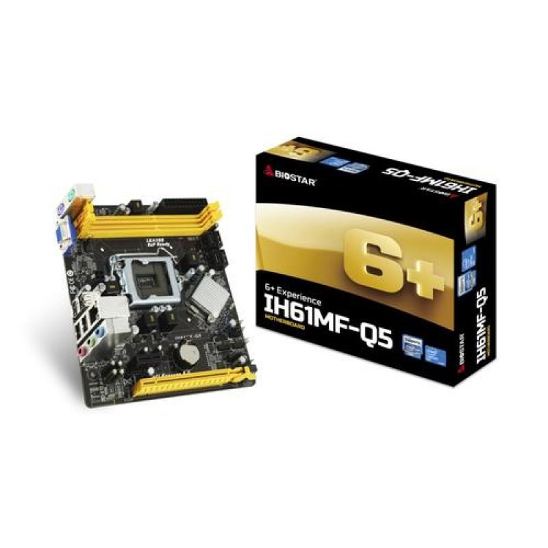 Biostar IH61MF-Q5 motherboard LGA 1155 (Socket H2) Micro ATX Intel® H61