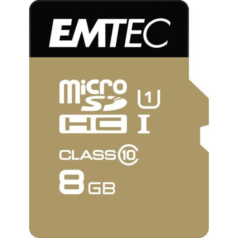 Emtec microSD Class10 Gold+ 8GB Black,Gold
