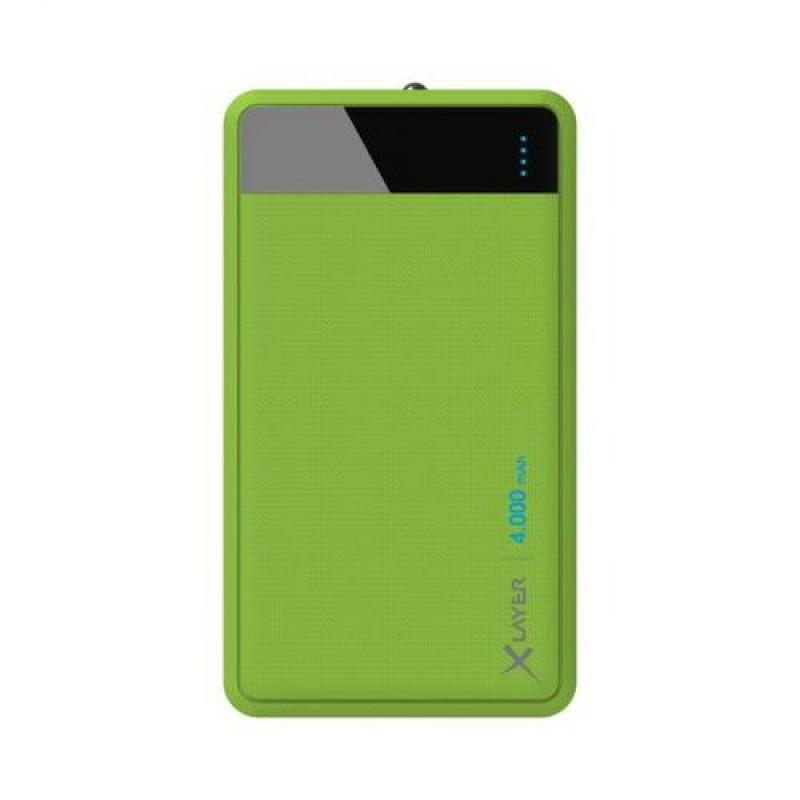 XLayer Colour Line power bank Green Lithium Polymer (LiPo) 4000 mAh