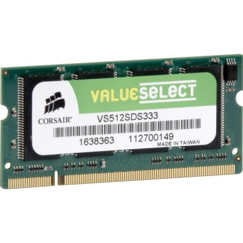Corsair 512MB DDR SDRAM SO-DIMMs memory module 0.5 GB 333 MHz