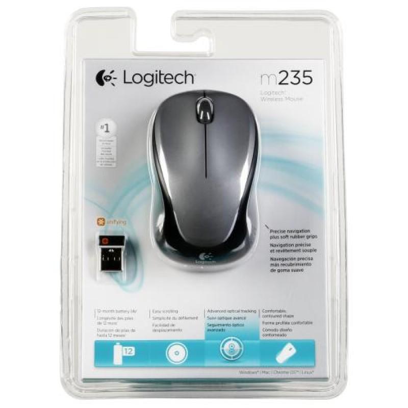 Logitech M235 mice RF Wireless Optical 1000 DPI Ambidextrous Grey
