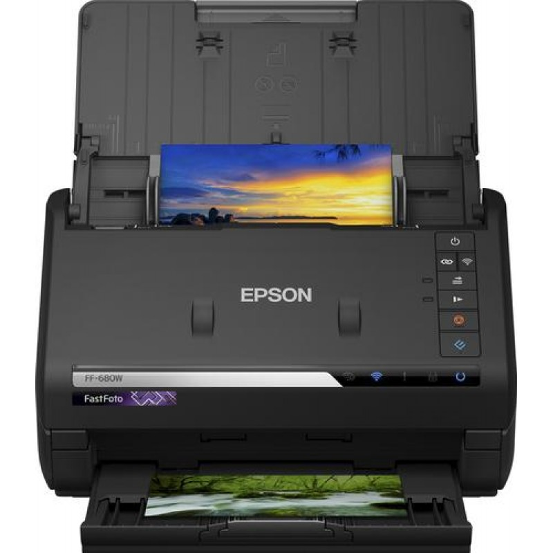 Epson FastFoto FF-680W 600 x 600 DPI Sheet-fed scanner Black A4