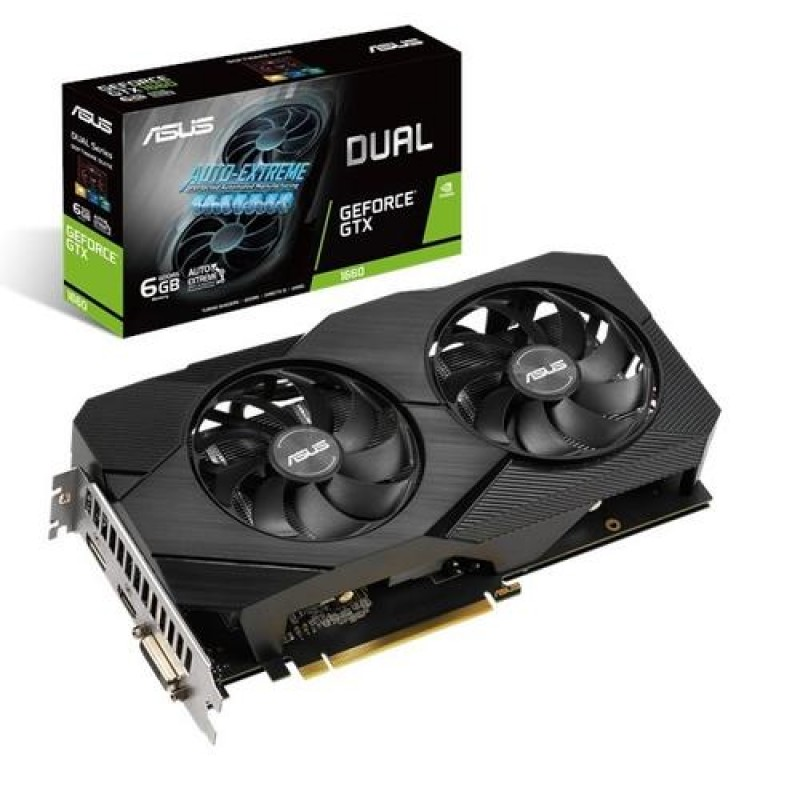 ASUS Dual -GTX1660-O6G EVO GeForce GTX 1660 6 GB GDDR5 Black