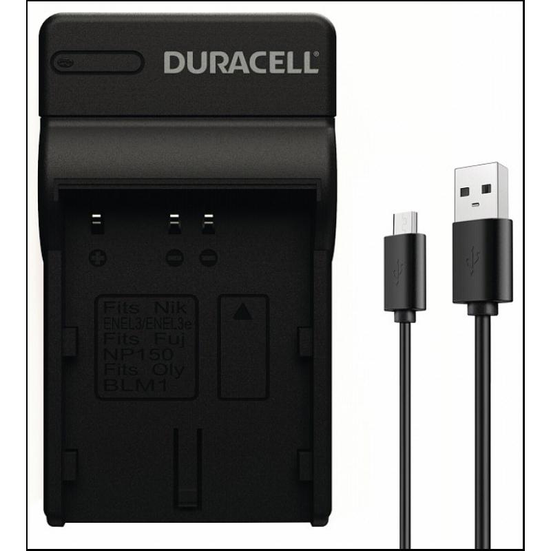 Duracell Charger with USB Cable for DRNEL3/EN-EL3/EN-EL3a