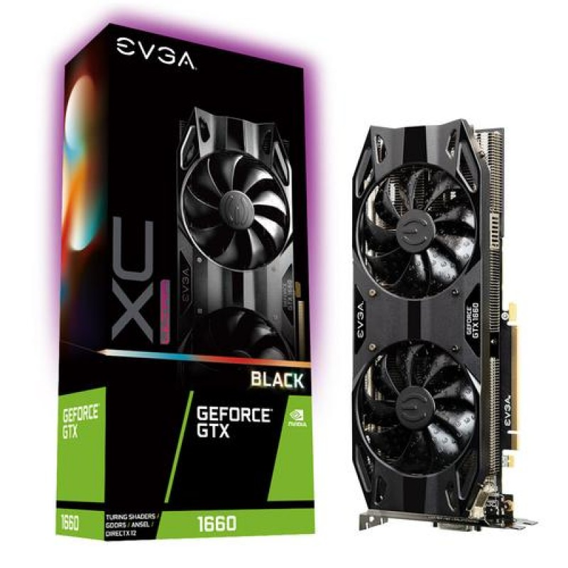 EVGA 06G-P4-1165-KR graphics card GeForce GTX 1660 6 GB GDDR5 Black
