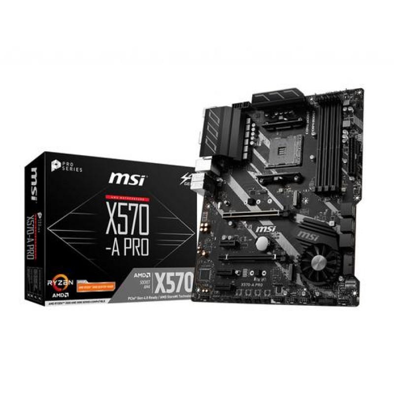 MSI X570-A PRO motherboard Socket AM4 ATX AMD X570