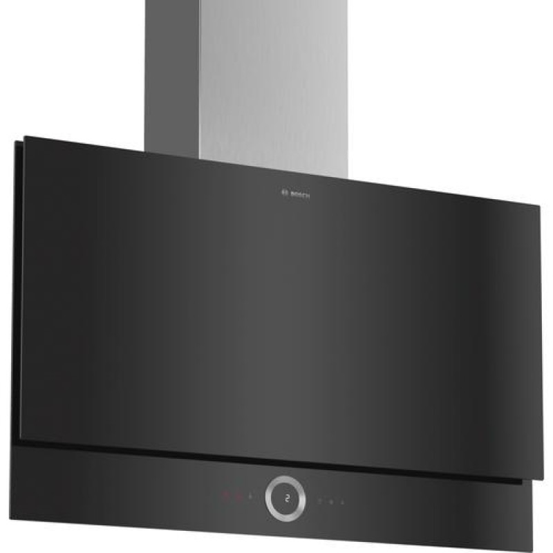 Bosch Serie 8 DWF97RV60 cooker hood 730 m³/h Wall-mounted Black,Stainless steel A