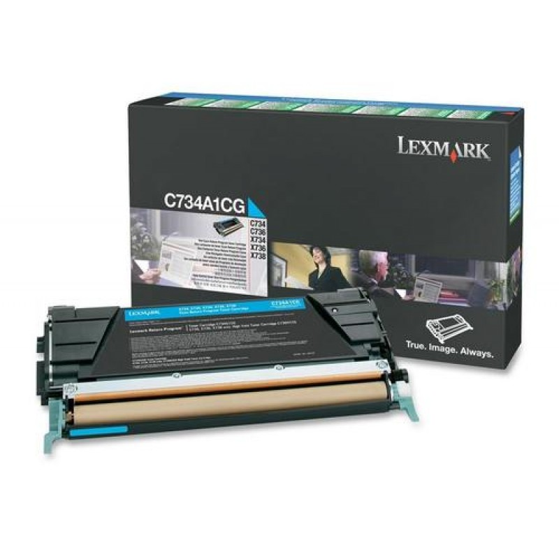 Lexmark C734A1CG toner cartridge Original Cyan 1 pc(s) Black