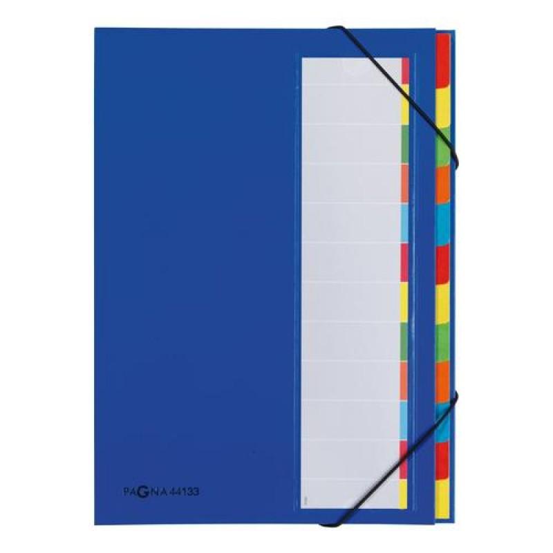 Pagna 44133-02 folder Cardboard,Paper,Polyester,Rubber Blue