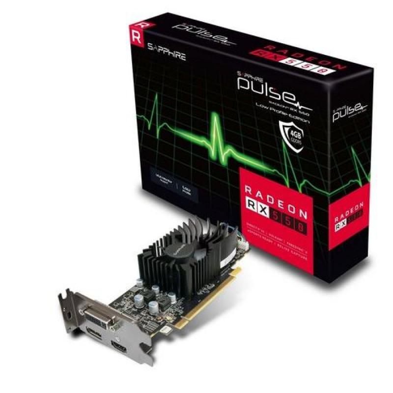 Sapphire 11268-09-20G graphics card Radeon RX 550 4 GB GDDR5 Black,Metallic