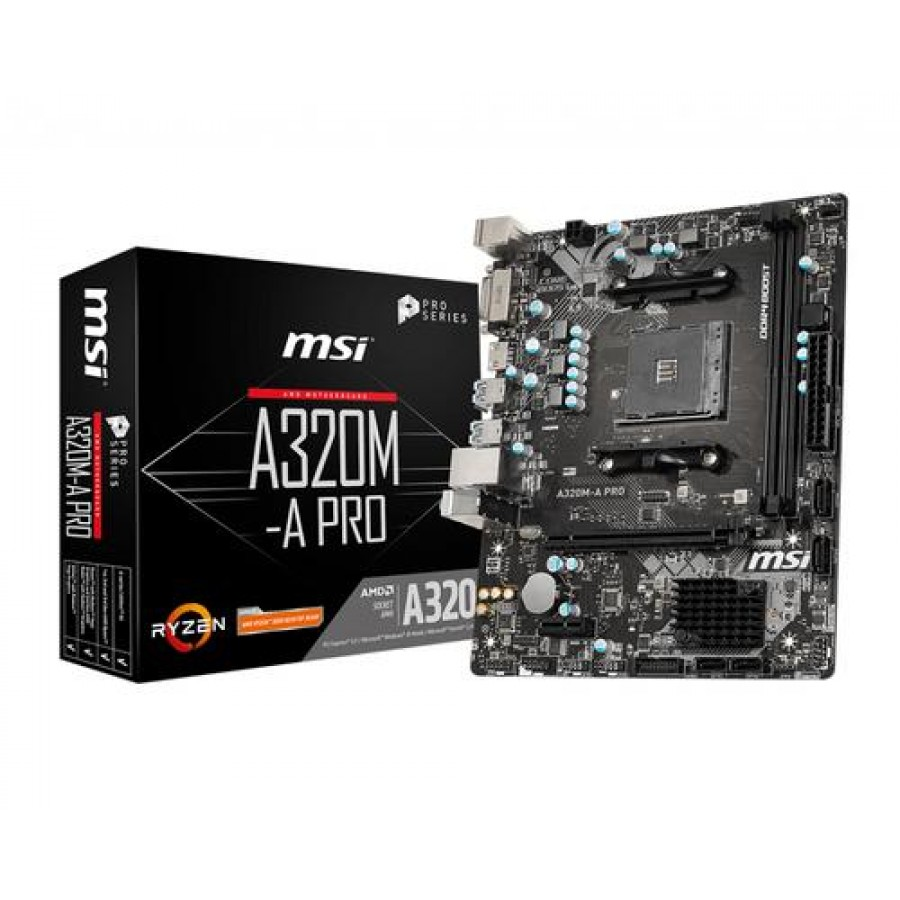 MSI A320M-A PRO motherboard Socket AM4 Micro ATX AMD A320